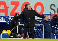 10th February 2021, Goodison Park, Liverpool, England;  Evertons manager Carlo Ancelotti gestulates during the FA Cup 5th round match between Everton FC and Tottenham Hotspur FC at Goodison Park