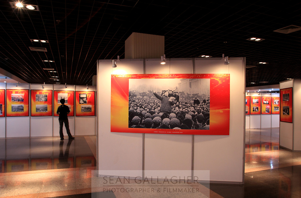 CHINA. Hangzhou. Inside at exhibit showcasing 60 years of China's history. 2009