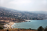 July 2010, LEBANON: The Mediterranean coastline looking from Byblos back towards Beirut, 36 km's distant  Picture by Graham Crouch
