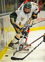 18 January 2008: University of Vermont Catamounts' forward Dean Strong, a Junior from Mississauga, Ontario, in action against the Northeastern University Huskies at Gutterson Fieldhouse in Burlington, Vermont. The two teams battled to a 2-2 tie in the first game of their 2-game weekend series...Mandatory Photo Credit: Ed Wolfstein Photo