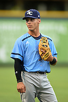 Charlotte Stone Crabs shortstop Andrew Velazquez (1) before a game against the Bradenton Marauders on April 20, 2015 at McKechnie Field in Bradenton, Florida.  Charlotte defeated Bradenton 6-2.  (Mike Janes/Four Seam Images)