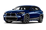 Stock pictures of low aggressive front three quarter view of 2020 BMW X2 M-Sport-X 5 Door SUV Low Aggressive