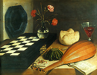 Lubin Baugin 1612-1663:  Nature morte a l'echiquier.  Louvre.  Reference only.