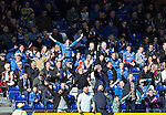 Ross County v St Johnstone…..30.04.16  Global Energy Stadium, Dingwall<br />Happy saints fans celebrates at Dingwall<br />Picture by Graeme Hart.<br />Copyright Perthshire Picture Agency<br />Tel: 01738 623350  Mobile: 07990 594431