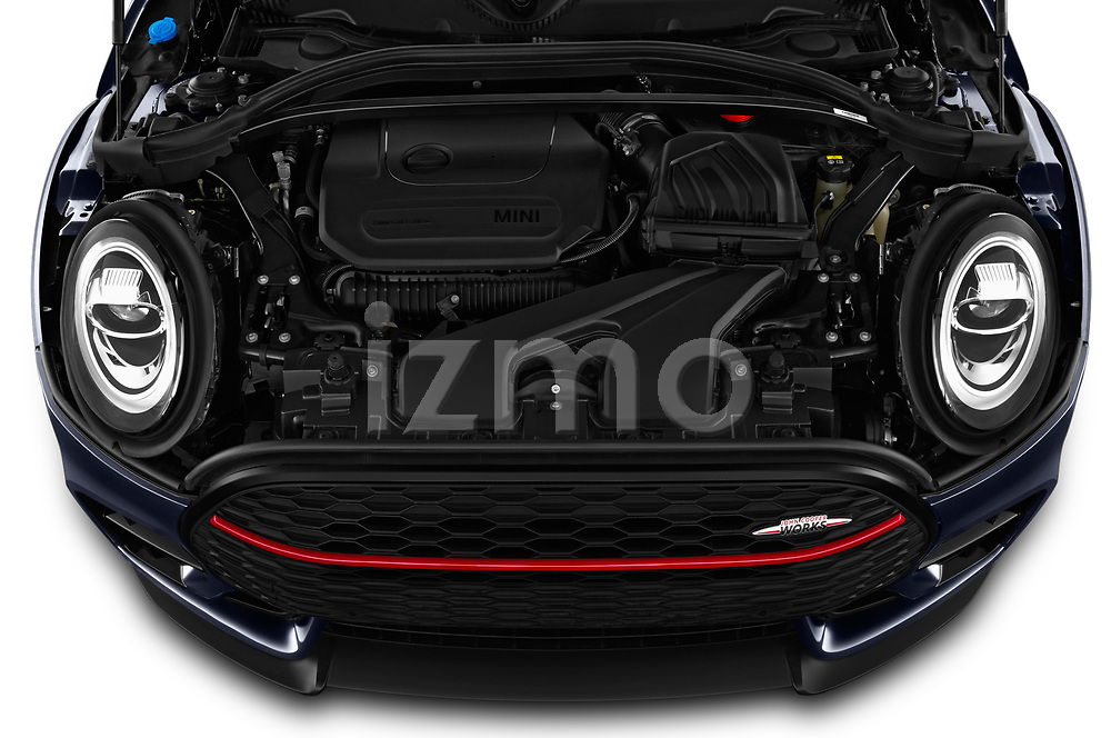 Car Stock 2020 MINI Clubman 5 Door Wagon Engine  high angle detail view