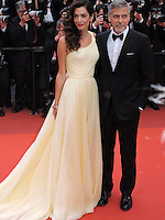 Cannes France May 12 2016 George Clooney, Amal Clooney attends the Money monster Premiere at the Palais des Festival During the 69th Annual Cannes Film Festival