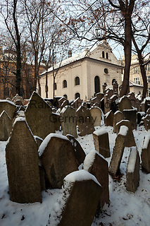 Tschechien, Boehmen, Prag: alter juedischer Friedhof mit ueber 12.000 Grabsteinen | Czech Republic, Bohemia, Prague: The Old Jewish cemetery, containing 12,000 tombstones