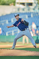 Nashville Sounds starting pitcher Taylor Guerrieri (16) delivers a pitch to the plate against the Reno Aces  at Greater Nevada Field on June 5, 2019 in Reno, Nevada. The Aces defeated the Sounds 3-2. (Stephen Smith/Four Seam Images)