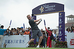 Paul Scholes tees off the 1st hole at the World Celebrity Pro-Am 2016 Mission Hills China Golf Tournament on 21 October 2016, in Haikou, China. Photo by Weixiang Lim / Power Sport Images