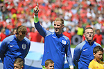 Goalkeeper Joe Hart (middle) of England at the Stade Bollaert-Delelis in Lens, France ahead of the Euro 2016 Group B fixture between England and Wales.