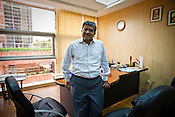 Nandan Nilekani, chairman of the Unique Identification Authority of India, poses for a portrait in his office in New Delhi, India. Photograph: Sanjit Das/Panos