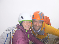 """Pictured: Andrew and Lucy Foster during one of their previous trips.<br /> Re: A British climber was killed and his wife seriously injured living their """"big dream"""" on one of the toughest rock faces in the world.<br /> Andrew Foster, 32, and his wife Lucy, 28, were buried under tons of falling rock as they prepared for their climb.<br /> Experienced climber Andrew was killed but Lucy was rescued and airlifted to hospital where she was in a """"critical"""" condition.<br /> The couple were married a year ago and the three-week trip to the Yosemite National Park in California was part of their first wedding anniversary celebrations.<br /> They had ben training for the expedition for six months and flew off to the States on September 11 along with other members of their climbing club.<br /> Andrew and Lucy, from Cardiff, were scouting out a descent of the iconic rockface El Capitan when a """"sheet"""" of granite fell on them.<br /> Rangers on the national park beauty spot said a piece of granite 40 metres by 20 metres fell from a height of 200 metres while the couple were below.<br /> Patagonia, a company owned by Andrew Foster has confirmed the incident."""