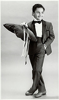 1986 FILE PHOTO - ARCHIVES -<br /> <br /> Scaled-down classics: Right; rented dark gray tuxedo with black trim; shirt; tie and cummerbund; from Freeman Formals; $85.<br /> <br /> 1986<br /> <br /> PHOTO :  Erin Comb - Toronto Star Archives - AQP