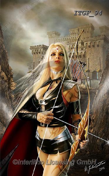 Gaetano, MODERN, MODERNO, paintings+++++The Warrior Princess,ITGF94,#n#, EVERYDAY ,fantasy,puzzles,gothic,pin-up,pin-ups