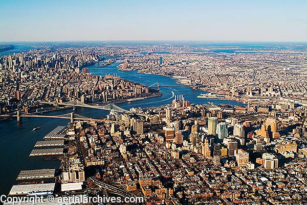 aerial photograph Brooklyn, New York City