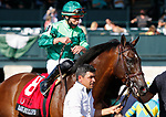 April 09, 2021:  #8 Raging Bull (FR) and jockey Irad Ortiz Jr win the 33rd running of The Maker's Mark Mile Grade 1 $300,000 for owner Peter Brant and trainer Chad Brown at Keeneland Racecourse in Lexington, KY on April 09 2021.  Candice Chavez/ESW/CSM