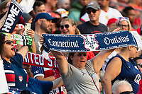 EAST HARTFORD, CT - JULY 5: Fans cheer after a game between Mexico and USWNT at Rentschler Field on July 5, 2021 in East Hartford, Connecticut.