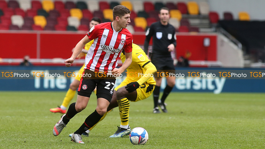 Vitaly Janelt of Brentford in possession during Brentford vs Barnsley, Sky Bet EFL Championship Football at the Brentford Community Stadium on 14th February 2021