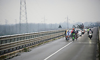 after only 40km of racing, the breakaway group has almost 10 minutes over the peloton<br /> <br /> 106th Milano - San Remo 2015