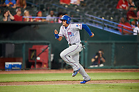 Round Rock Express first baseman Ronald Guzman (31) runs home during a game against the Memphis Redbirds on April 28, 2017 at AutoZone Park in Memphis, Tennessee.  Memphis defeated Round Rock 9-1.  (Mike Janes/Four Seam Images)