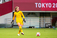 TOKYO, JAPAN - JULY 21: Alyssa Naeher #1 of the United States during a game between Sweden and USWNT at Tokyo Stadium on July 21, 2021 in Tokyo, Japan.