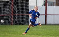 May Hamblin of Laurel Park Vipers turns after scoring a goal during the Thames Valley Counties Women's Football League (TVCWFL) match between Flackwell Heath Ladies and Laurel Park Vipers at Wilks Park, Blackwell Heath, England on 11 October 2015. Photo by Andy Rowland.
