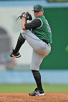 Augusta Green Jackets pitcher Drew Bowlin #22 delivers a pitch during a game against the Asheville Tourists at McCormick Field on July 10, 2011 in Asheville, North Carolina.  Augusta won the game 10-2.   (Tony Farlow/Four Seam Images)