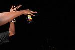 Hip-hop singer P.O.P. enjoying the night.