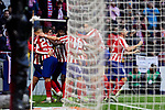 Players of Atletico de Madrid celebrate goal during La Liga match between Atletico de Madrid and RCD Espanyol at Wanda Metropolitano Stadium in Madrid, Spain. November 10, 2019. (ALTERPHOTOS/A. Perez Meca)