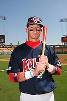 August 9 2008: Slade Heathcott participates in the Aflac All American baseball game for incoming high school seniors at Dodger Stadium in Los Angeles,CA.  Photo by Larry Goren/Four Seam Images