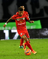 BOGOTA - COLOMBIA - 09 – 05 - 2017: Miguel Angel Medina, jugador de Cortulua, en acción, durante partido de la fecha 17 entre Millonarios y Cortulua, por la Liga Aguila I-2017, jugado en el estadio Nemesio Camacho El Campin de la ciudad de Bogota. / Miguel Angel Medina, player of Cortulua, in action during a match of the date 17th between Millonarios and Cortulua, for the Liga Aguila I-2017 played at the Nemesio Camacho El Campin Stadium in Bogota city, Photo: VizzorImage / Luis Ramirez / Staff.