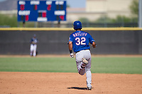 Texas Rangers third baseman Tyler Ratliff (32) rounds the bases after hitting a home run during an Instructional League game against the San Diego Padres on September 20, 2017 at Peoria Sports Complex in Peoria, Arizona. (Zachary Lucy/Four Seam Images)