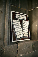 The ten commandments in Turkish, Mar Petyun Chaldean Church; Diyarbakir; southeastern Turkey; catholic; christianity; church; , interior