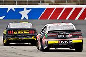#2: Brad Keselowski, Team Penske, Ford Mustang Western Star/Alliance Parts, #95: Christopher Bell, Leavine Family Racing, Toyota Camry Rheem