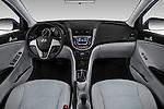 Stock photo of straight dashboard view of 2017 Hyundai Accent SE 4-Door 6-Speed Automatic 4 Door Sedan Dashboard