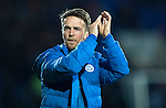 St Johnstone v Rangers…28.12.16     McDiarmid Park    SPFL<br />Chris Millar applauds the fans at full time<br />Picture by Graeme Hart.<br />Copyright Perthshire Picture Agency<br />Tel: 01738 623350  Mobile: 07990 594431