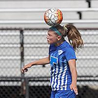 Peabody, Massachusetts - July 16, 2014:  In a Women's Premier Soccer League (WPSL) match, Boston Breakers U-20 (blue) defeated Boston Aztec (white), 2-1, at Bishop Fenwick High School.