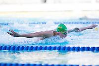 Santa Clara, California - Friday June 3, 2016: Mitchell Larkin races butterfly during the Men's 400 LC Meter IM A final.