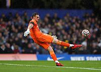 2nd October 2021; Stamford Bridge, Chelsea, London, England; Premier League football Chelsea versus Southampton; Goalkeeper Alex McCarthy of Southampton clears long upfield