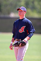 Cleveland Indians minor leaguer Dustin Realini during Spring Training at the Chain of Lakes Complex on March 17, 2007 in Winter Haven, Florida.  (Mike Janes/Four Seam Images)