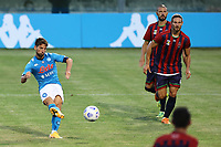 Dries Mertens of SSC Napoli scores a goal<br /> during the friendly football match between SSC Napoli and L Aquila 1927 at stadio Patini in Castel di Sangro, Italy, August 28, 2020. <br /> Photo Cesare Purini / Insidefoto