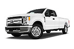 Stock pictures of low aggressive front three quarter view of 2017 Ford F-250 XLT-SuperCab 4 Door Pickup Low Aggressive