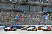 Monster Energy NASCAR Cup Series<br /> GEICO 500<br /> Talladega Superspeedway, Talladega, AL USA<br /> Sunday 7 May 2017<br /> Kyle Busch, Joe Gibbs Racing, Skittles Red, White, & Blue Toyota Camry and Chase Elliott, Hendrick Motorsports, Hooters Chevrolet SS<br /> World Copyright: Nigel Kinrade<br /> LAT Images<br /> ref: Digital Image 17TAL1nk07117
