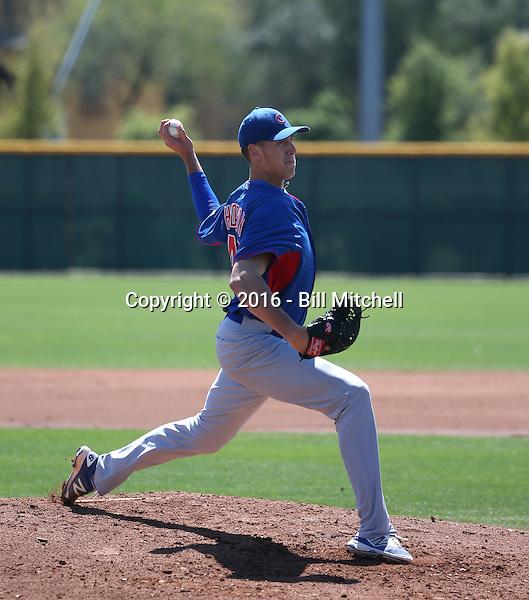 Bryan Hudson - Chicago Cubs 2016 spring training (Bill Mitchell)