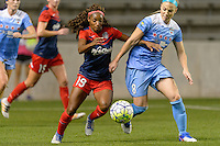 Chicago, IL - Saturday Sept. 24, 2016: Crystal Dunn, Julie Johnston during a regular season National Women's Soccer League (NWSL) match between the Chicago Red Stars and the Washington Spirit at Toyota Park.