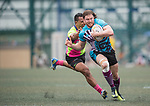A-Trade Overseas Old Boys vs Mourant Osantes Samurai International during their Bowl Semi-final as part of the GFI HKFC Rugby Tens 2017 on 06 April 2017 in Hong Kong Football Club, Hong Kong, China. Photo by Juan Manuel Serrano / Power Sport Images