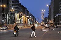 - Milan, Melchiorre Gioia street....- Milano, via Melchiorre Gioia