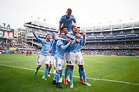BRONX, New York - Sunday, May 7, 2017: New York City FC takes on Atlanta United at home at Yankee Stadium during the MLS regular season.