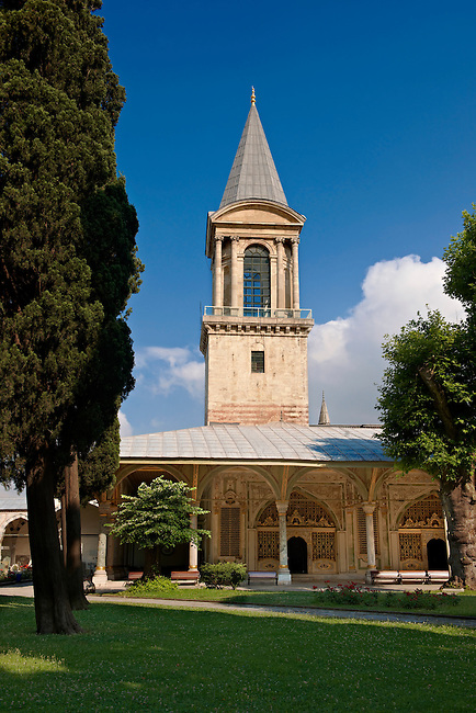 The Tower of Justice (Adalet Kulesi) originally constructed under Mehmed II and then renovated and enlarged by Suleiman I between 1527-1529, Topkapi Palace Istnabul