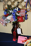 Floral exhibit at Cheshire Fair in Swanzey, New Hampshire USA